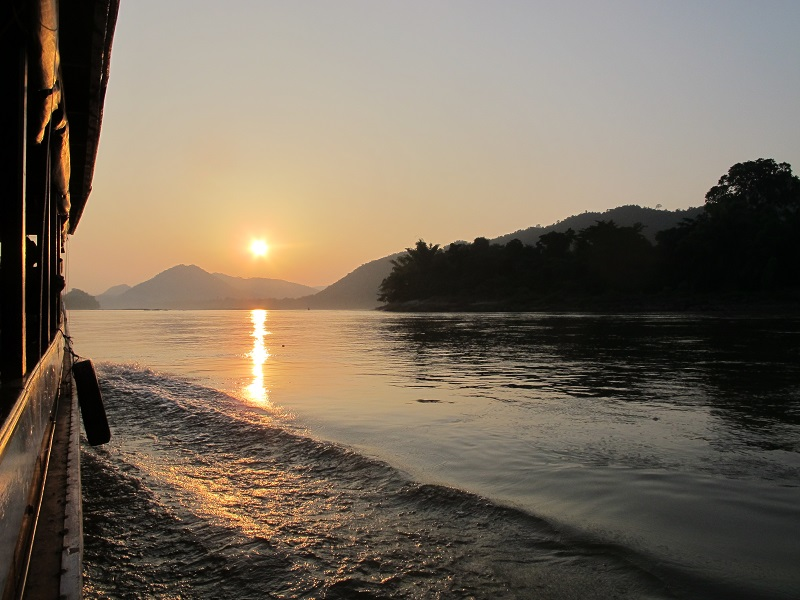 Laos Holidays Nam Ou River Sunset